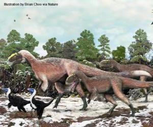 Rompicapo di Yutyrannus con quasi 9 metri di lunghezza è il più grande dinosauro con piume noto