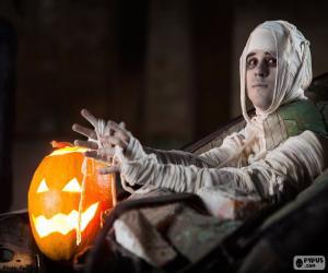 Rompicapo di Zucca e mummia, Halloween