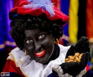 Rompicapo di Zwarte Piet, Pietro il moro, l'assistente di San Nicola in Olanda e Belgio