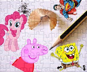 Puzzle di Cartoon caratteri