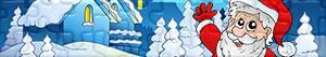 Puzzle di Babbo Natale, renne ed elfi